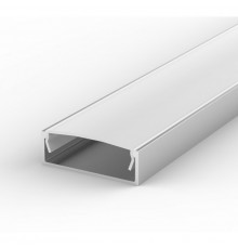 EW2 1m / 1000mm high U-profile 30mm x 10mm with high quality diffuser
