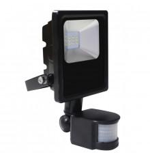 10W LED Outdoor Floolight with PIR motion sensor, AC100-240V (50Hz/60Hz), IP65