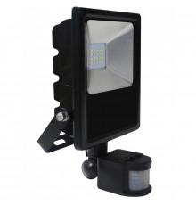 20W LED outdoor floodlight with PIR motion sensor, AC100-240V (50Hz/60Hz), IP44