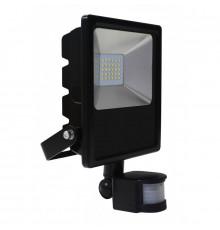 30W LED outdoor floodlight with PIR motion sensor, AC100-240V (50Hz/60Hz), IP44
