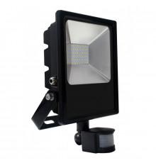 50W LED outdoor floodlight with PIR motion sensor, AC100-240V (50Hz/60Hz), IP44