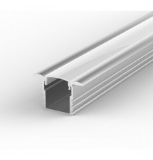 EH1 1m / 1000mm recessed LED aluminium extrusion 15.4mm x 14.5mm with high quality diffuser and end caps (option)