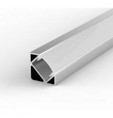 E3 silver 2m / 2000mm corner LED aluminium extrusion with high quality diffuser