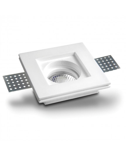 Neve Square Gypsum Plaster In Recessed Baffled Ceiling Downlight Trimless Downlights Marc