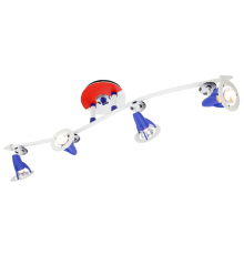 Handmade Ceiling Bar, Red/White/Blue, Wave/Football, Children Light
