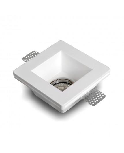 Fiore - Square Gypsum Plaster-In Recessed Baffled Ceiling Downlight