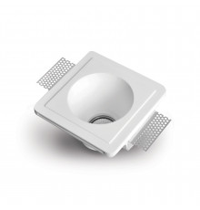 Felice - Square Gypsum Plaster-In Recessed Baffled Ceiling Downlight