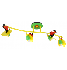 Handmade Ceiling Bar, Colourful, Wave / Ladybug, Children Light