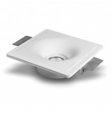 Kamea - Square Gypsum Plaster-In Recessed Baffled Ceiling Downlight