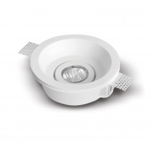 Tondo - Round Gypsum Plaster-In Recessed Baffled Ceiling Downlight