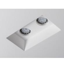 Fresco - Rectangle Gypsum Plaster-In Recessed Baffled Ceiling Downlight