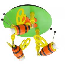 Handmade Ceiling SpotLight, Colourful, Round / Bumblebee, Children Lighting