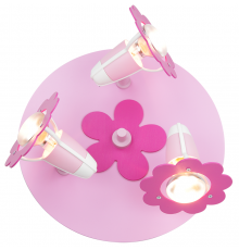 Handmade Ceiling SpotLight, Pink, Round / Flowers, Children Lighting