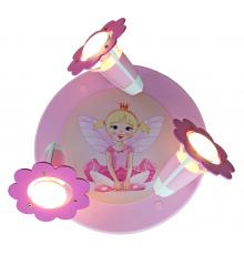 """Handmade Ceiling SpotLight,  Pink , """"Fairy sitting"""" , Children Lighting"""