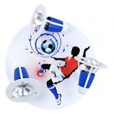 Handmade Ceiling SpotLight,  red / white / blue, Soccer , Children Lighting