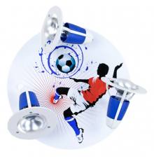 Handmade Ceiling SpotLight,  red / white / blue, Soccer , Children Lighting