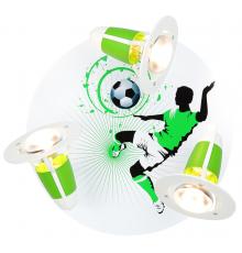 Handmade Ceiling SpotLight,  green / white, Soccer , Children Lighting
