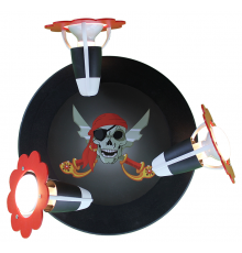 Handmade Ceiling SpotLight,  black, Pirate head , Children Lighting
