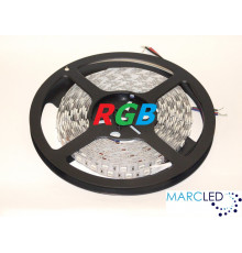 24VDC LED Flexible Strip RGB SMD5050, 14.4W/m, 60 LEDs/m, IP20, 5m (72W, 300LEDs)