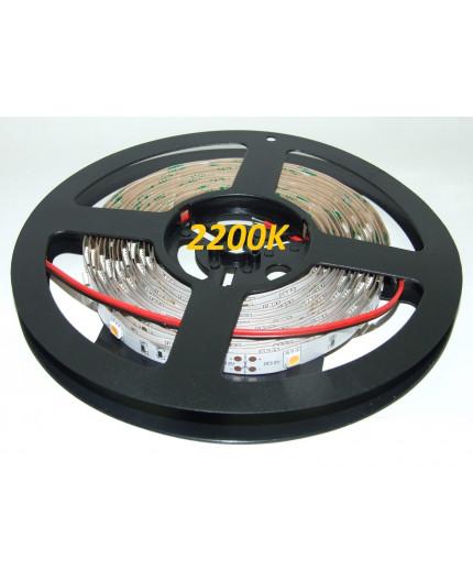 12VDC LED tape, warm white 2200K, 7.2W/m, 30LED/m, IP20, 5m (36W, 150 LED), SMD5050