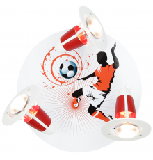 Handmade Ceiling SpotLight,   red / white, Soccer , Children Lighting
