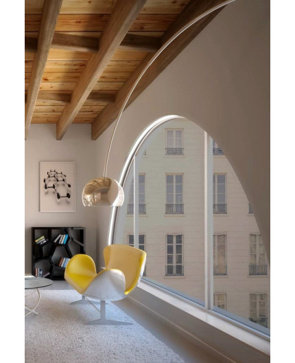 1m / 1000mm ARCH1 flexible LED aluminium profile for arches, set with opal cover