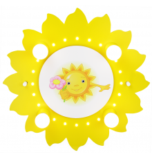 "Handmade Ceiling Light, Sun, ""Motif with sun flower"", Children Lighting"