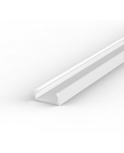 E2 white painted 2m LED Aluminium U-profile with diffuser