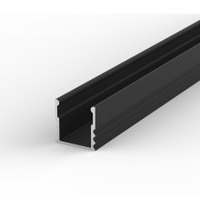 EH2 1m / 1000mm LED aluminium extrusion 15mm x 15mm with high quality diffuser and end caps (option)