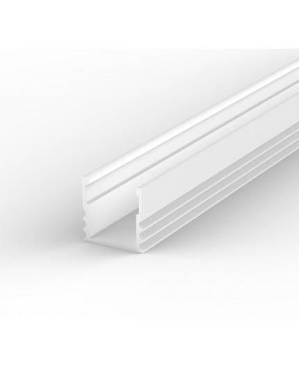 EH2 white painted 2m LED Aluminium high U-profile with diffuser