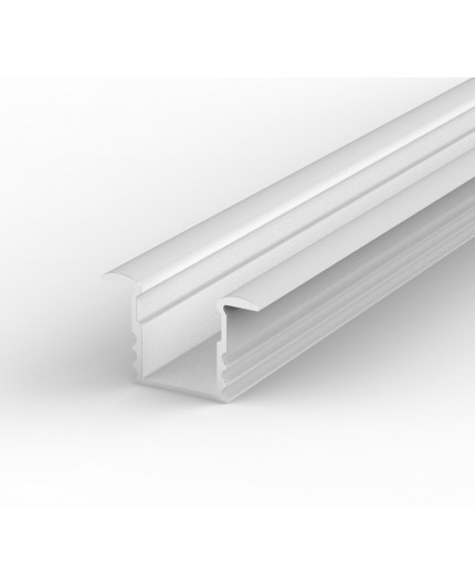 EH1 white 1m / 1000mm recessed LED aluminium extrusion 15mm x 14mm with high quality diffuser