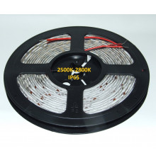 24VDC LED Flexible Strip,  2500K-2800K, SMD2835, IP54, 5m a roll  (80W, 600LEDs)