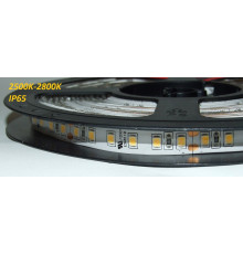 24VDC LED Flexible Strip,  2500K-2800K, SMD2835, IP54, 5m a roll  (80W, 600LEDs)
