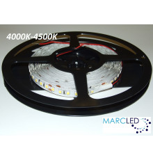 24VDC LED Flexible Strip, 2500K-2800K, SMD2835, IP65, 5m a roll (80W, 600LEDs)