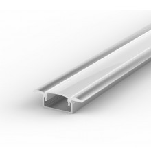E1 1m / 1000mm recessed LED aluminium extrusion 15mm x 6mm with high quality diffuser