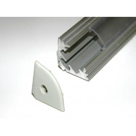 P3 1m / 1000m corner 45 extrusion, anodized aluminium, silver, with diffuser
