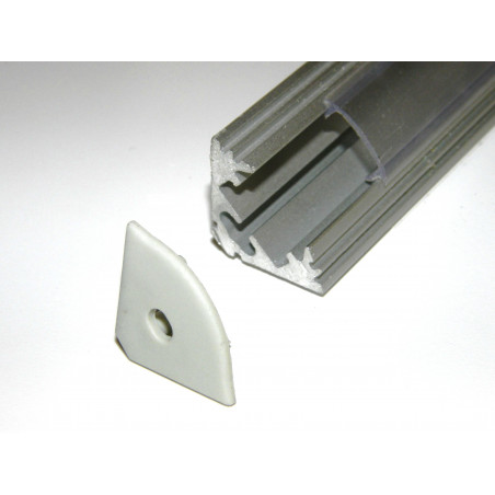 P3 1m / 1000mm anodized silver LED aluminium profile / extrusion / channel with diffuser and end caps (option)