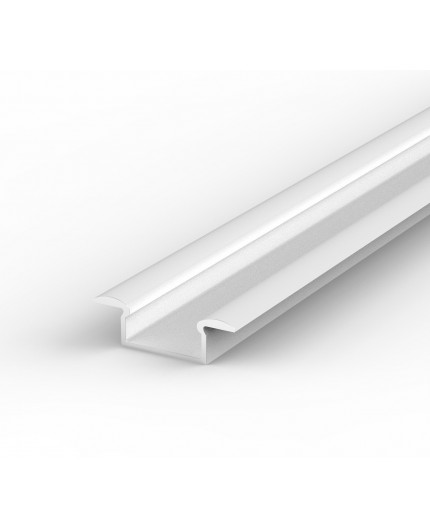 E1 1m / 1000mm recessed white LED aluminium extrusion 15mm x 6mm with high quality diffuser