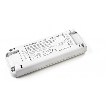 0 - 60W 12Vdc Dimmable (trailing edge) Electronic Transformer for LEDs, TE60W-DIMM-LED-12V