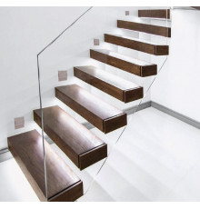 Stair LED light UNICO, 12Vdc, 3000K, satin finish