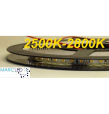 24VDC LED strip SMD3528 120LEDs/m 9.6W/m warm white 2700K, IP20, 5m  (48W, 600LEDs)