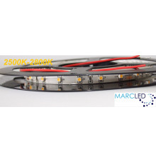 24VDC LED Flexible Tape (strip) warm white 2700K SMD3528, IP20, 5m  (24W, 300LEDs)