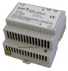 45W 12VDC DR45/12 Switching Power Supply for DIN Rail Mounting, Vadsbo