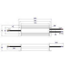 60W, 0-10V / Potentiometer / 10V PWM dimmable LED driver ELED-60-24V