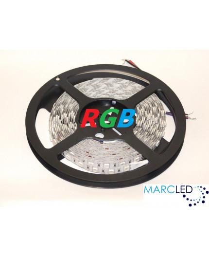 12VDC LED tape, RGB, 14.4W/m, 60LED/m, IP54, 5m (72W, 300 LED), SMD5050