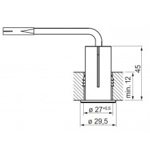 Elektra ON/OFF Fitted Switch, 220V - 240V, 2.5A, aluminium look