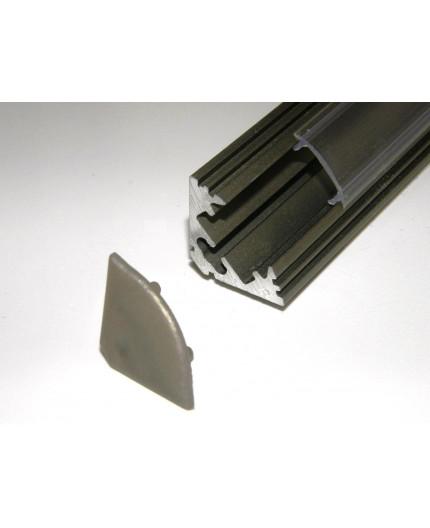 P3 LED profile 1m / 1000m corner 45 extrusion, anodized aluminium, inox, with diffuser