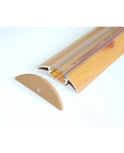 P4 wood pine LED aluminium profile / extrusion with diffuser