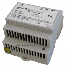 45W 24VDC DR45/24 Switching Power Supply for DIN Rail Mounting, Vadsbo