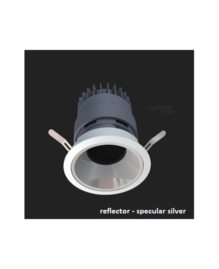 LED downlight, GECO MINI 90 10W / 800 lm, IP20,  specular silver reflector